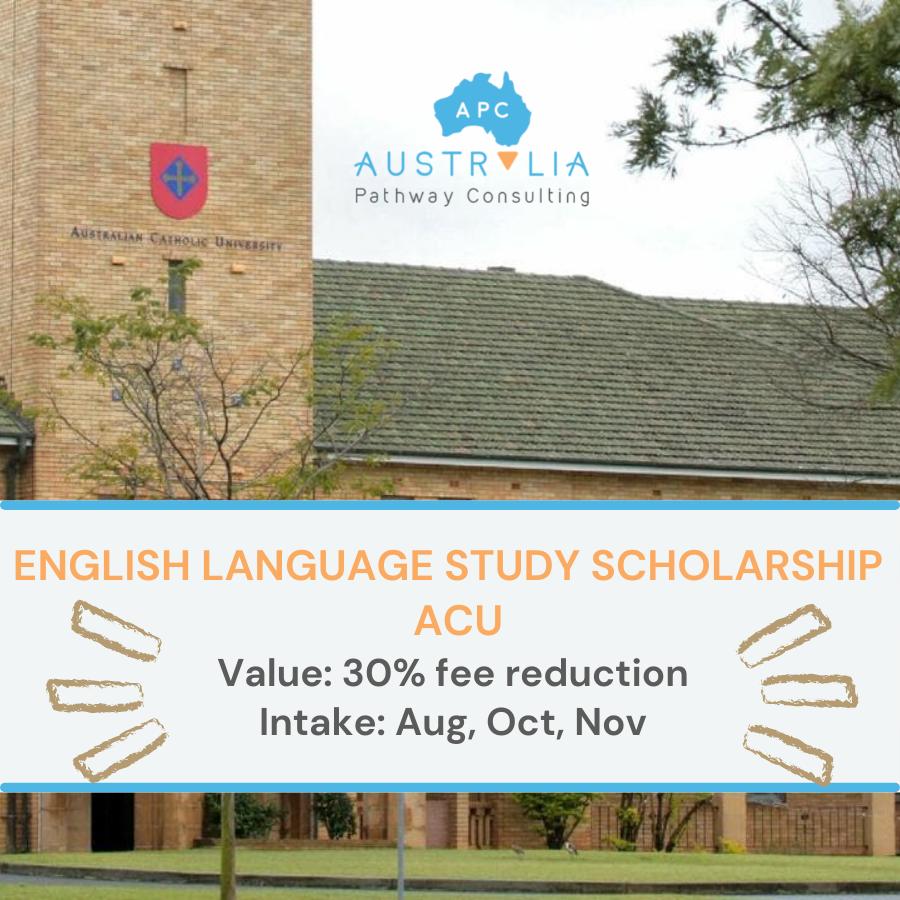 ENGLISH LANGUAGE STUDY SCHOLARSHIP – ACU